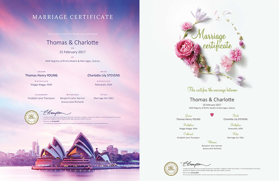 Alternative Marriage Certificates | Equally Wed