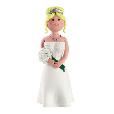 Claydough Blonde Cake Topper