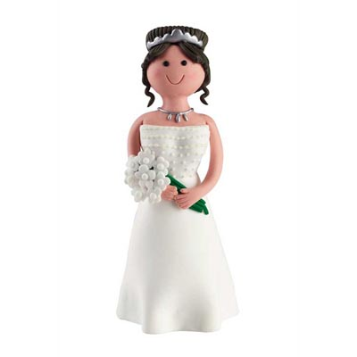 Claydough Brunette Cake Topper