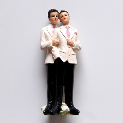 Couple Male Resin Cake Topper