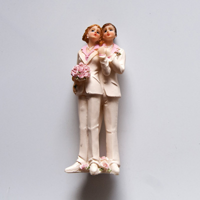 Couple Female Resin Cake Topper