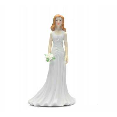 Female Porcelain Dress Cake Topper