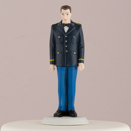 Male Porcelain Military Cake Topper