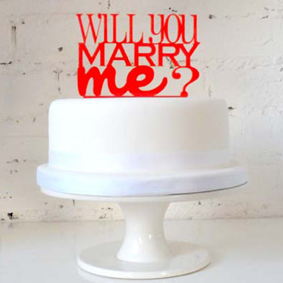 Will You Marry Me Cake Topper