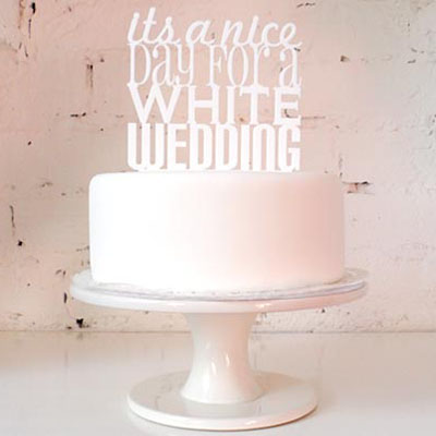 It's A Nice Day For A White Wedding Cake Topper