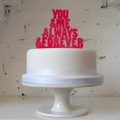 You And Me Always Together Cake Topper