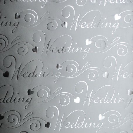 Gift Wrap Wedding Silver